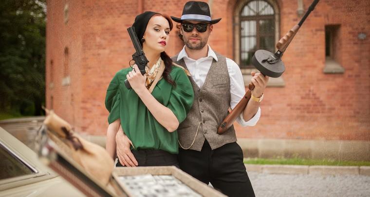 Sesja zdjęciowa - Bonnie & Clyde