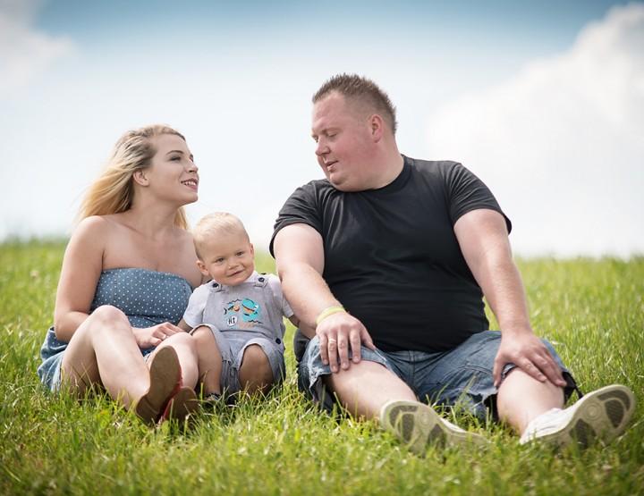 Sesja rodzinna - Angelika, Darek i Miłosz